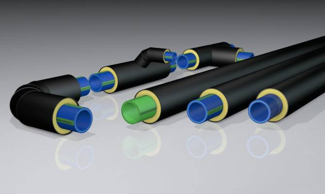 Aquatherm Pre Insulated Pipes Transporting Hot