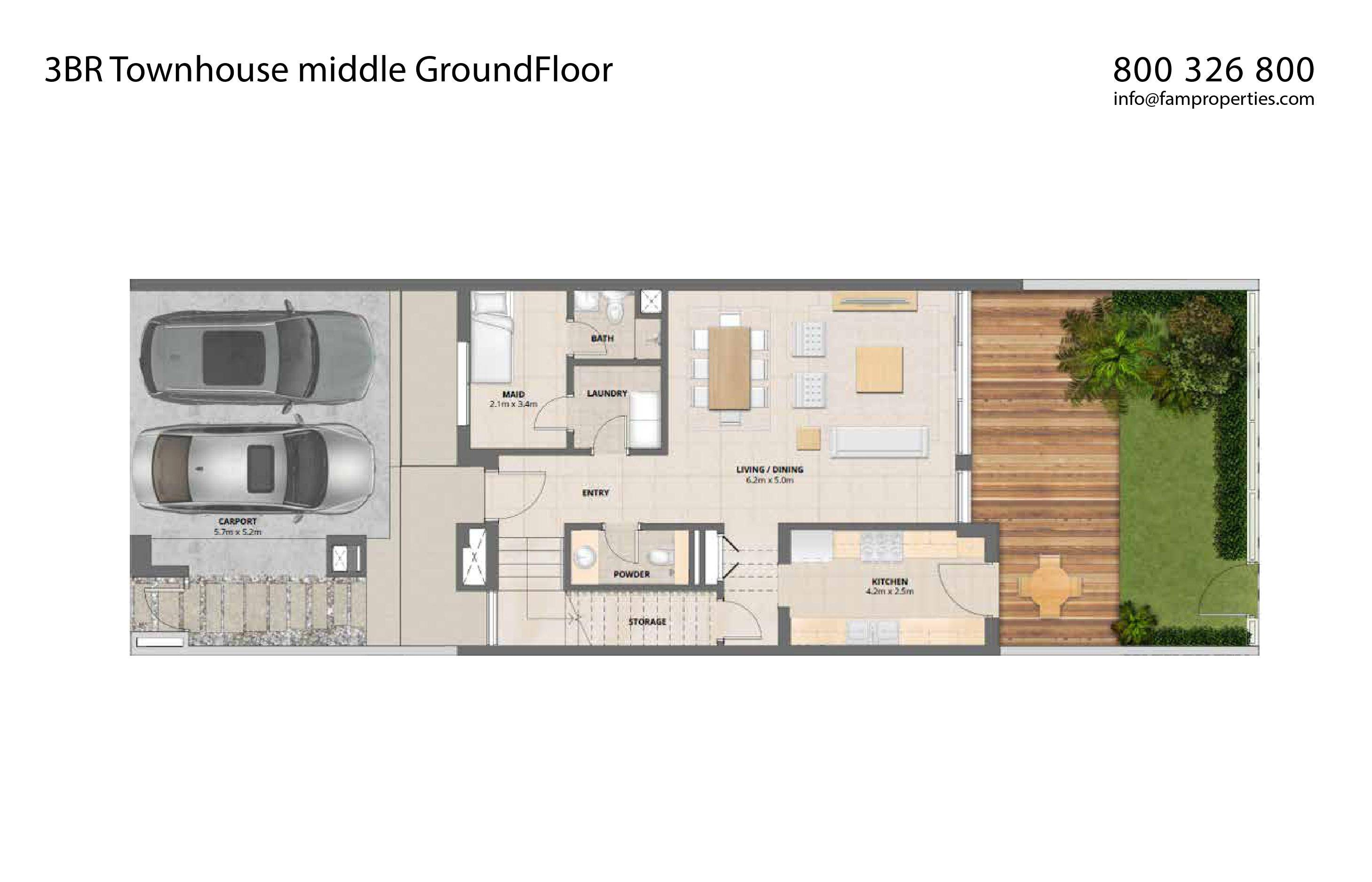 Arabella Townhouses Floor Plans Mudon Dubailand