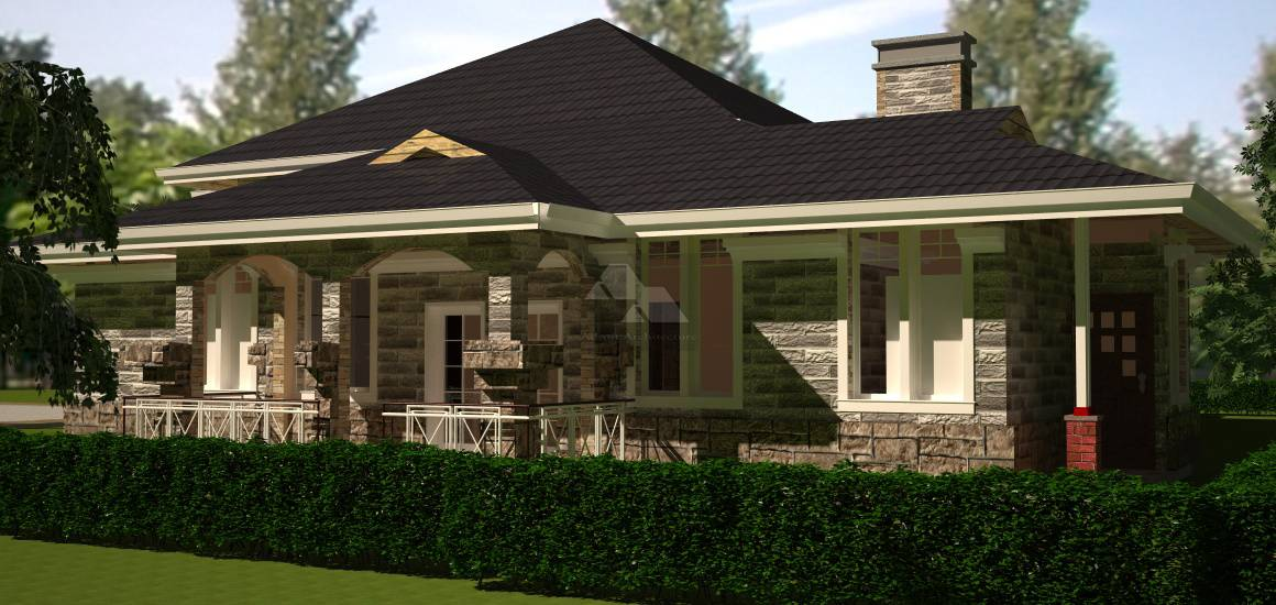 Arch Porch Bungalow House Plan David Chola Architect