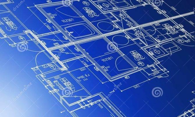 Architectural Blueprints Vector Illustration