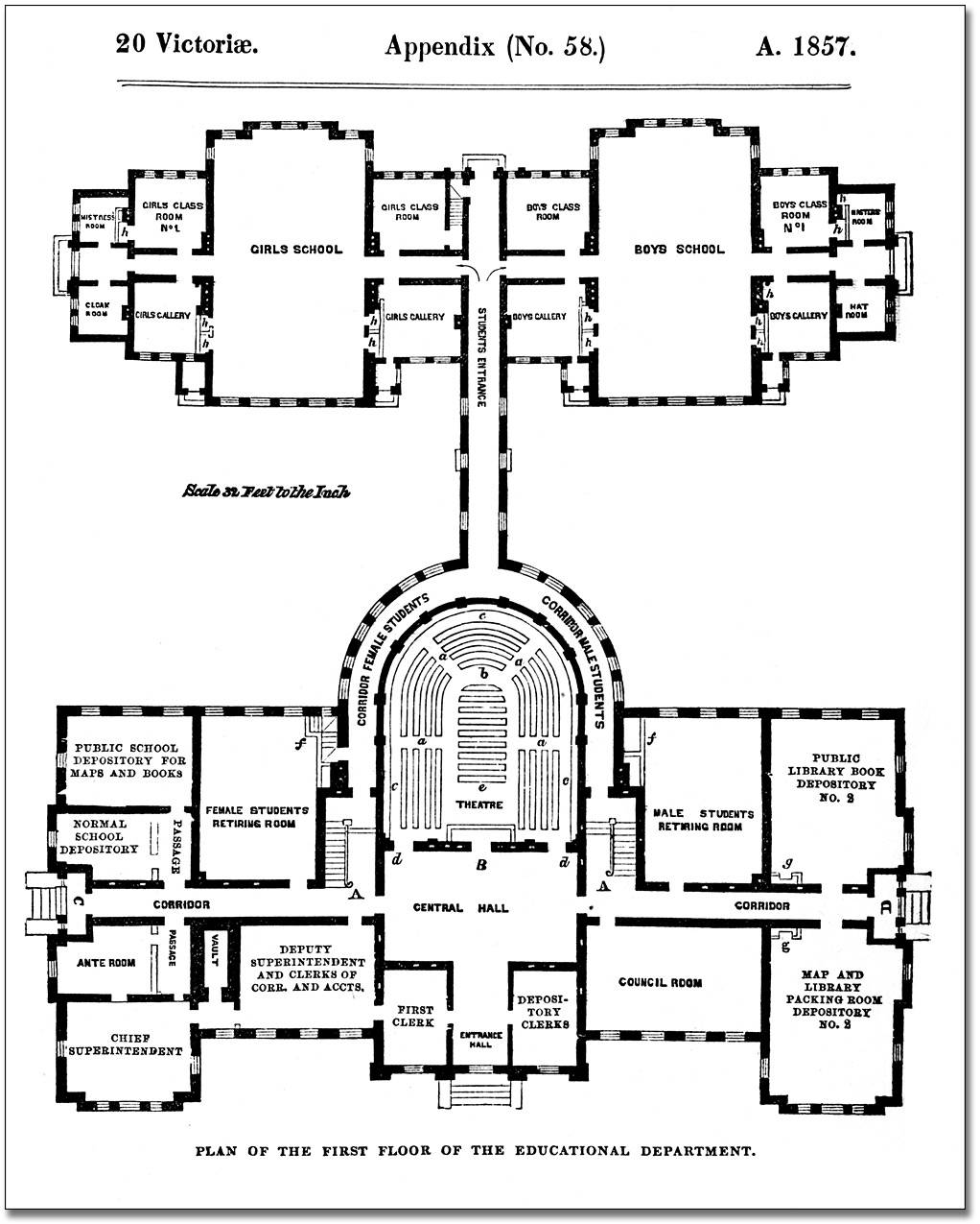 Architectural Measured Drawings Showing Floor