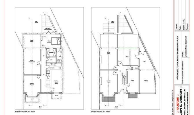 Architectural Plans Loft Conversion House Extension