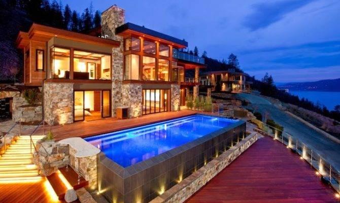 Architecture Contemporary Style Lake House Kelowna Canada