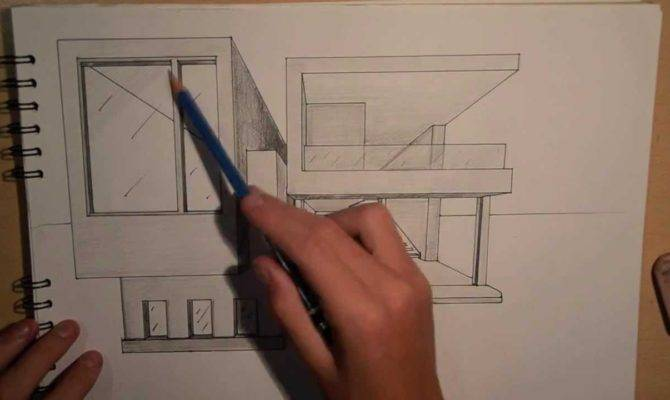 Architecture Design Drawing Modern House Point