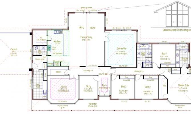 Architecture Rectangular House Floor Plans