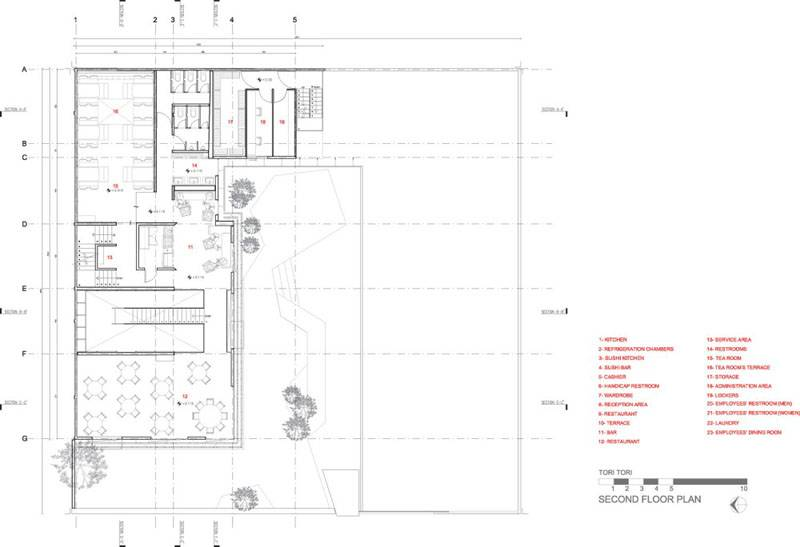 Arquitectos Esrawe Studio Second Floor Plan Tori Restaurant