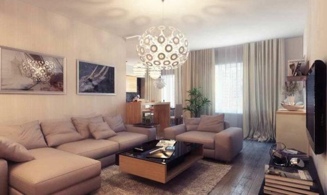 Arrangement Small Living Room Natural Furniture