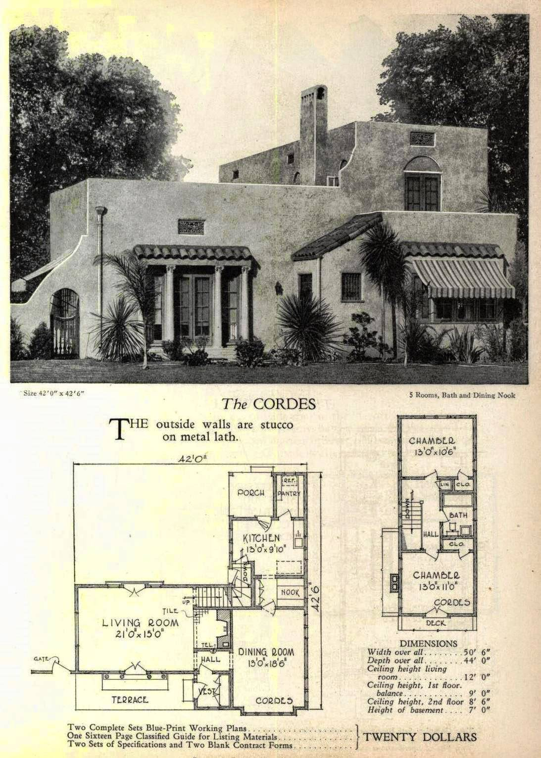 Art Deco House Floor Plans