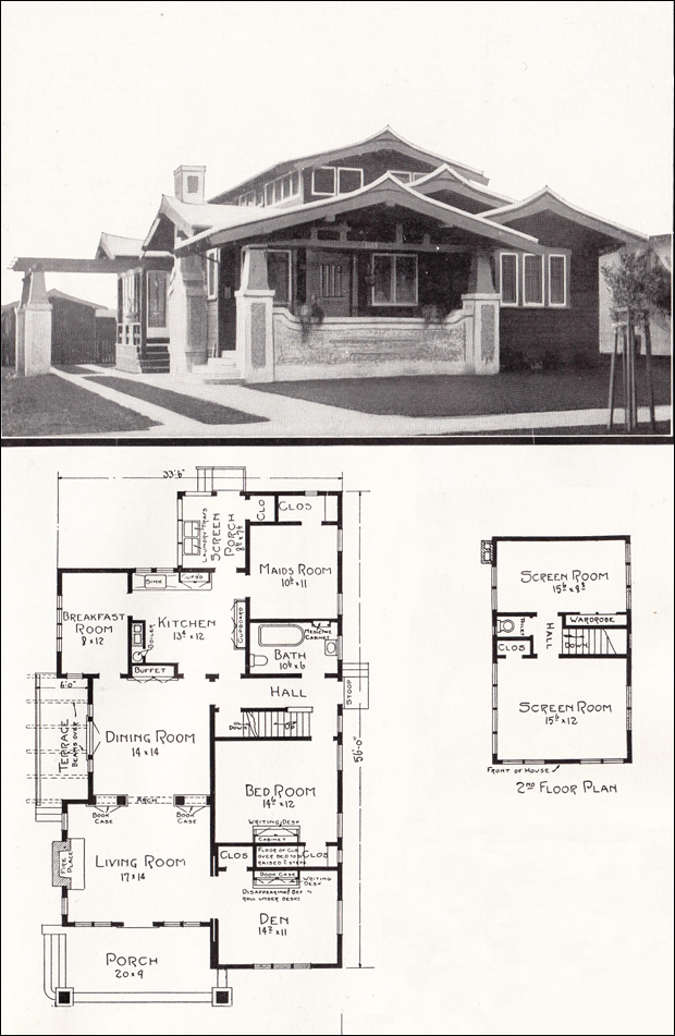 Asian Style Airplane Bungalow House Plans