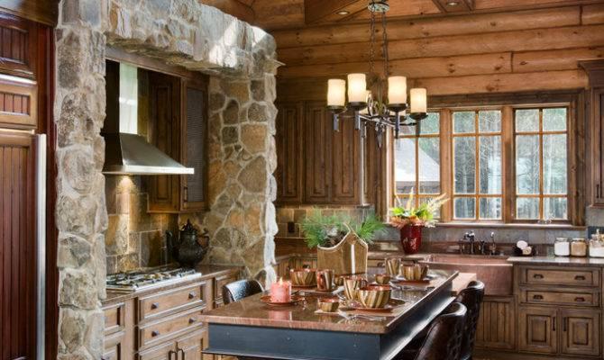 Astonishing Two Floor Stone Log House Inspirations