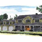 Attached Three Car Garage Hwbdo Farmhouse Home Plans