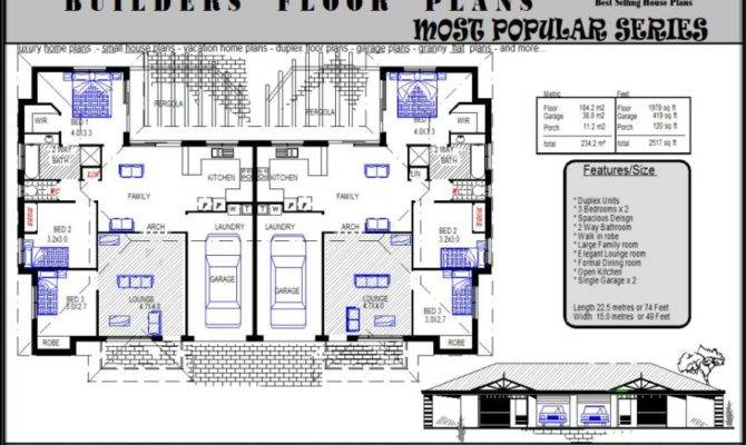 Australian Dream Home Duplex Design House Plans