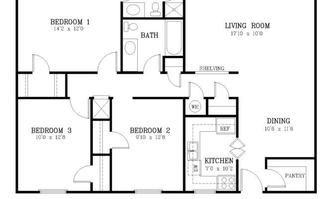 Average Square Footage Bedroom House