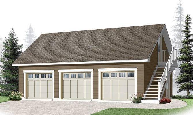 Awesome Car Garage Plans Loft Three