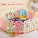 Baby Plastic Playpen Game Fence Safety Kids Play Yard