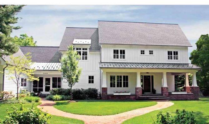 Back Contemporary Farmhouse Plans