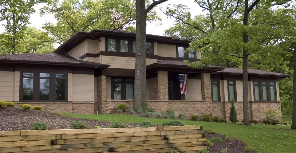 Back Prairie Style House