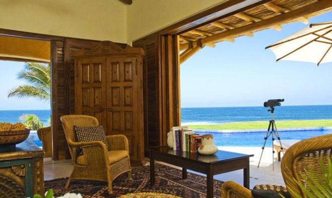 Back Tropical Beach House Plans