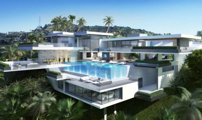 Back Two Modern Mansions Plan House Photos