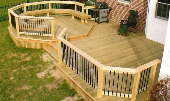 Backyard Deck Ideas Home Round