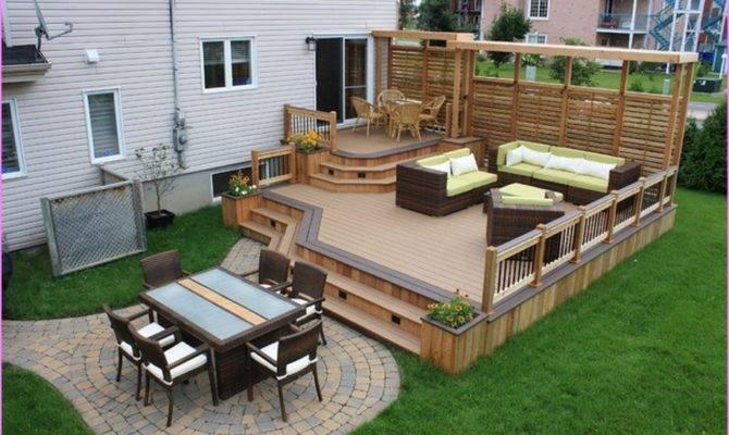 Backyard Patio Ideas Deck Designs Home Design