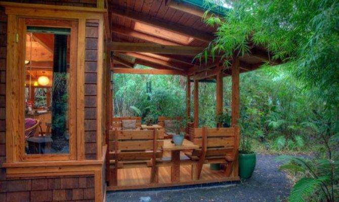 Bamboo Guest House Lanai Volcano Rainforest
