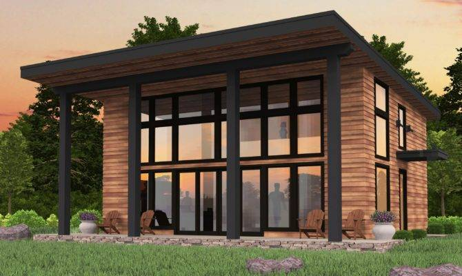 Bamboo Shed Roof Modern House Plan Mark Stewart Home