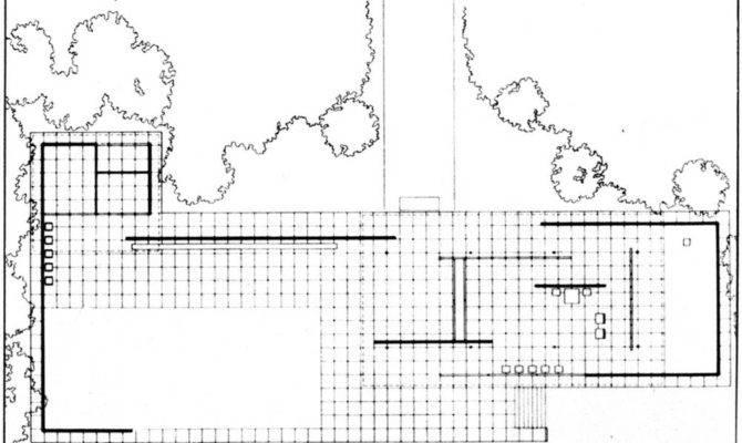 Barcelona Pavilion Plan