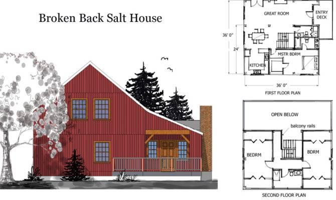 Barn House Combination Plans Broken Back