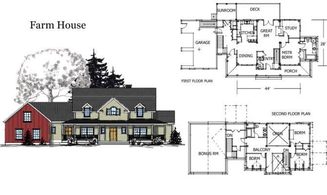 Barn House Combination Plans Farm