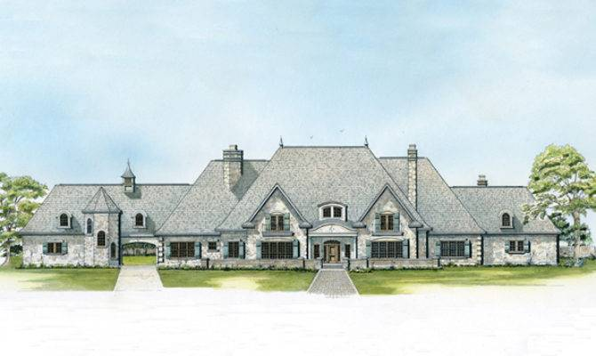 Bascayne Country French Home Plan House Plans