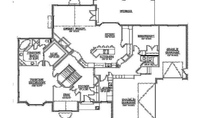 Basement Builderhouseplans Rambler Floor Plan One Home