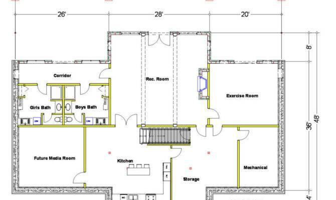Basement Floor Plans Homes Unique House