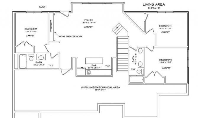 Basement Plans Latest Walkout Ideas Also Ranch