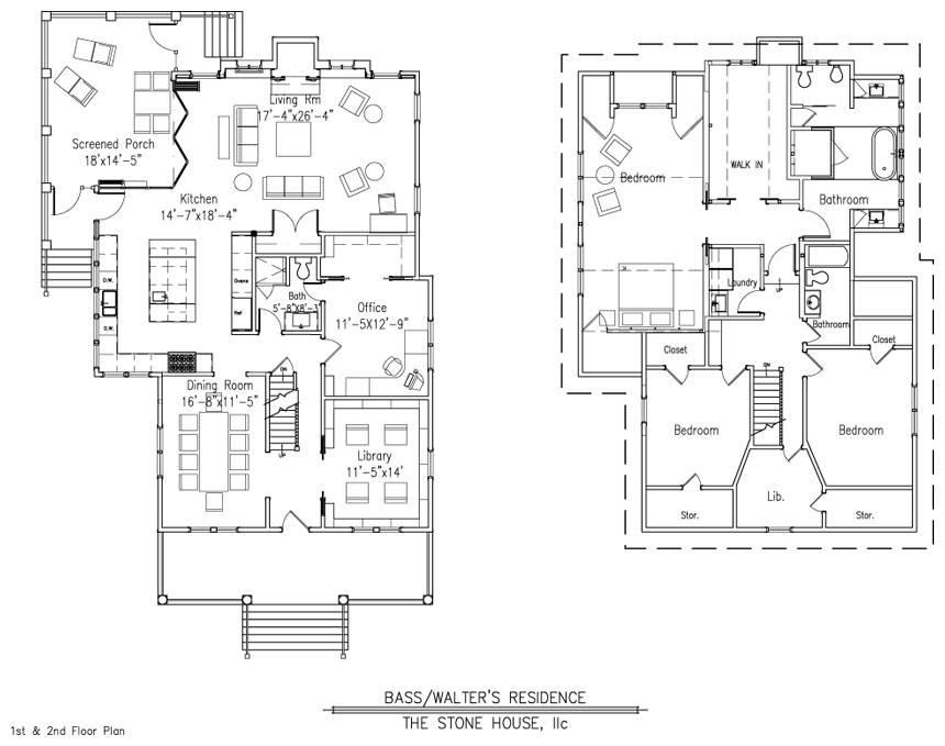 Bass Walter Floor Plan Stone House Design