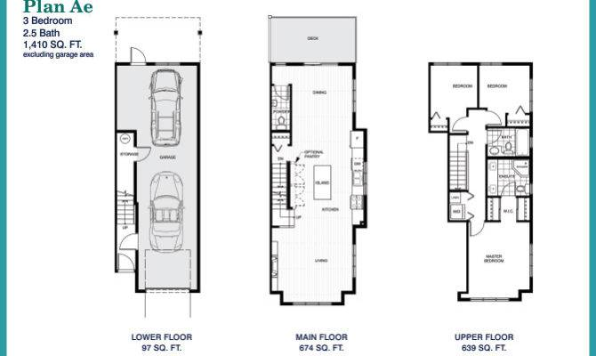 Bath Tandem Garage Plan Bedroom