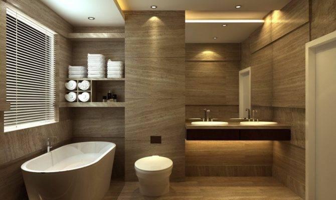 Bathroom Design Tub Floor Tile Toilet European Style
