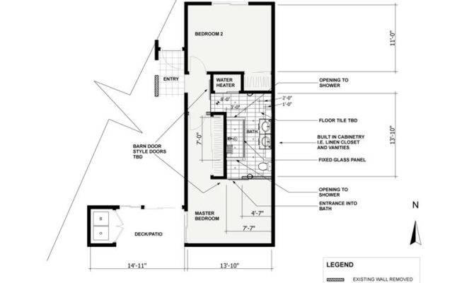 Bathroom Floor Plans Two Bedroom One Bath Plan