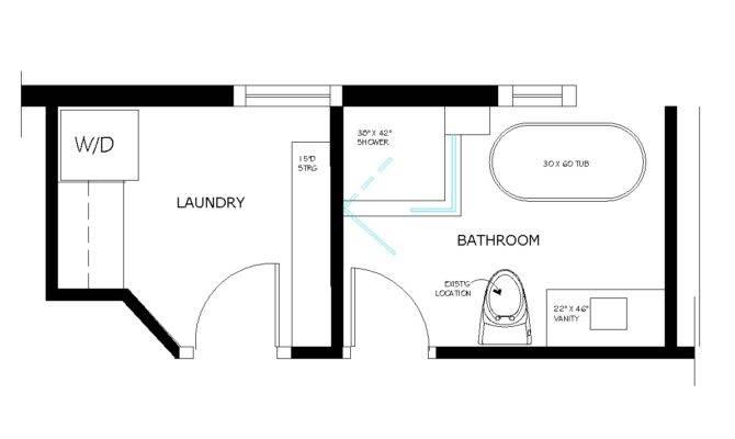 Bathroom Laundry Room Floor Plans Home Design Ideas