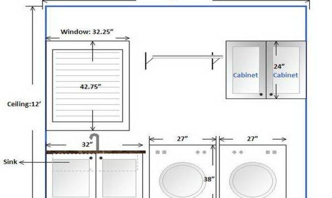Bathroom Laundry Room Layout Cabinets Design