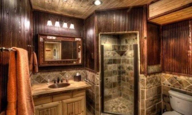 Bathroom Log Cabin Interior Design
