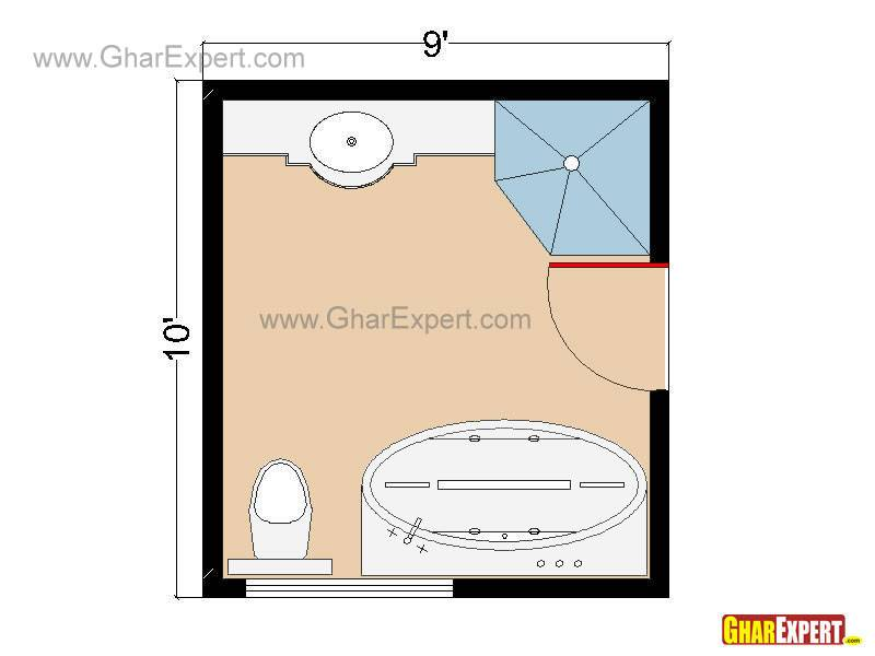 Bathroom Plans Layouts Square Feet