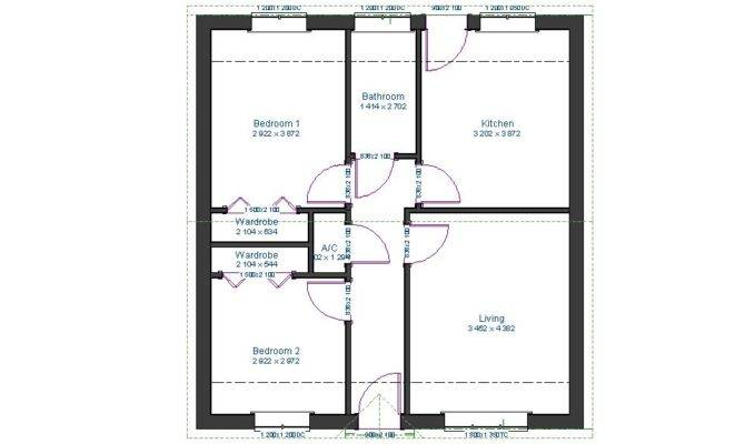 Bathroom Plus Walk Wardrobes Floor Plan