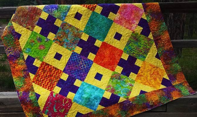 Batik Diamonds Afternoon Quilt Kit Homespun Hearth