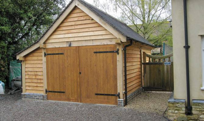 Bay Garage Newbold Shires Oak Buildings