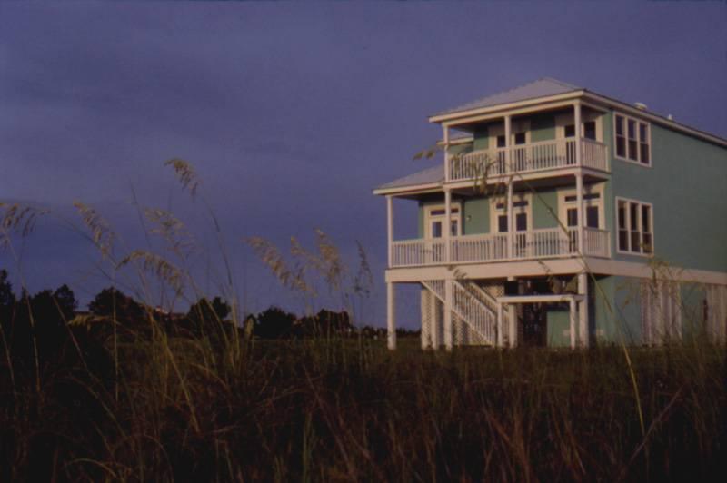 Beach Coastal House Plan Rear Plans
