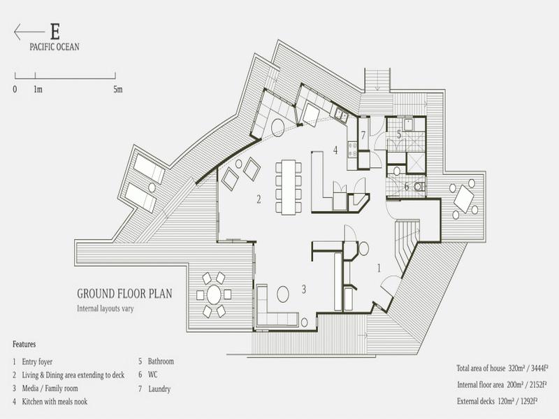 Beach House Floor Plans Design Ground Plan