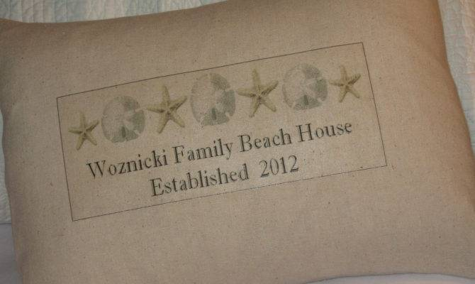 Beach House Name Pillow Personalized Abundanthaven