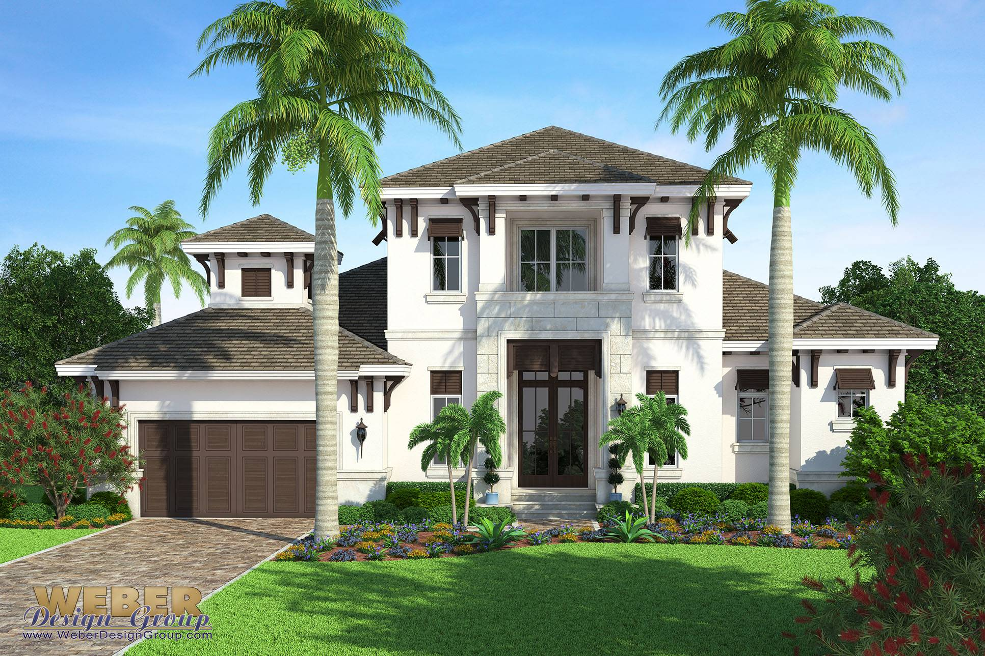 Beach House Plan Transitional West Indies Home