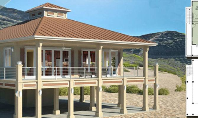 Beach House Plans Piers